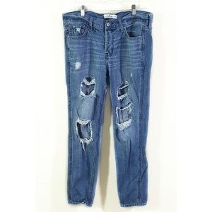 Hollister / Destroyed High Rise Boyfriend Jeans